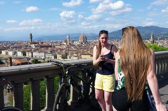 住佛羅倫薩作為當地,自行車和冰淇淋照片
