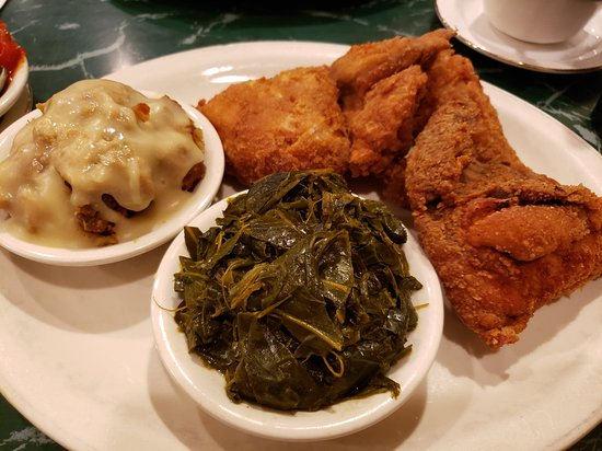 The Southern Grill of Ellendale: Fried Chicken, stuffing & collard greens