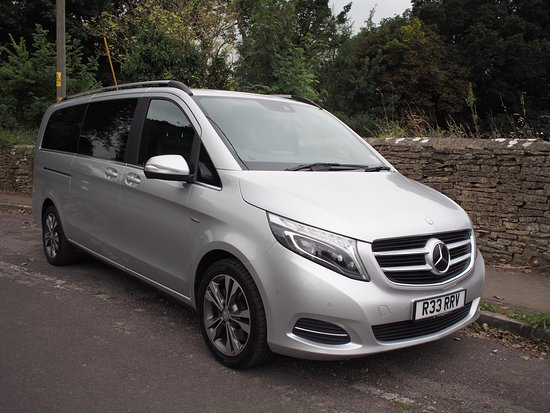 Corsham, UK: Mercedes V class.  Luxury People carrier which seats 6 passengers and accommodates luggage for 6 too!