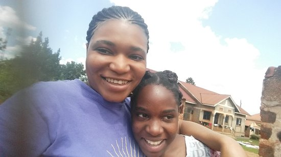Gayaza, Уганда: This is my home village, just felt like having a selfie near home, with my young Sister.