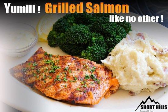 Salt Point, Nova York: Nothing tastes as good as #shorthills Grilled Salmon 😍🍣🍣🐟