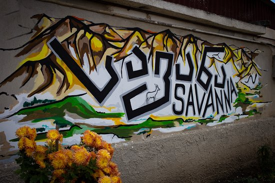 Street Art with guest house name