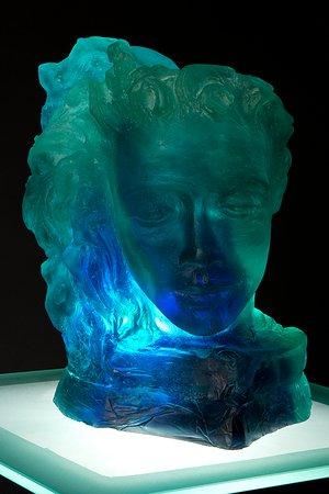 Saint-Jean-sur-Richelieu, Kanada: Sculpture en pâte de verre réalisée à l'atelier du verre.
