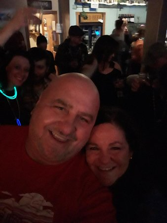Thomas, WV: Janet and i at the Purple Fiddle. New Year's eve 2018/2019