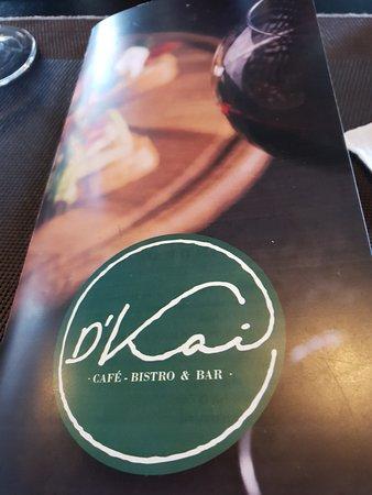 D'Kai - Café Bistro & Bar: Detalle de la carta