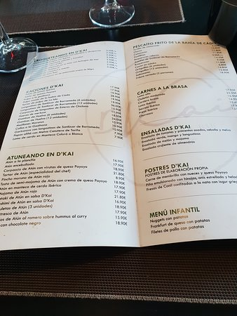 D'Kai - Café Bistro & Bar: La carta