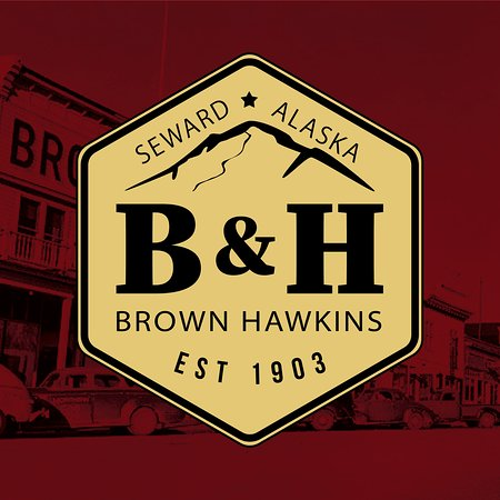 Forests Tides and Treasures: Brown and Hawkins 2018 Logo with historic Image in background.
