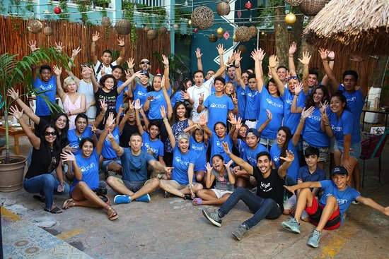 Selina Playa Del Carmen: We organized a Christmas Party for our volunteers. Great time and experience at Selina Hotel in Playa del Carmen.  #beachcleanup #beachclean #beach #islamujeres #privatetours #beachbar #foodie #foodlover #traveltips #cancun #mexico #scuba #diving #scubadiving #musa #playadelcarmen #puertomorelos #tulum #snorkeltour #kaytours