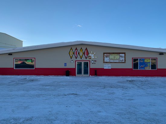 Afton, WY: Building front.