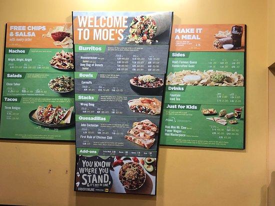 Moe S Southwest Grill Live Oak Restaurant Reviews Photos Phone Number Tripadvisor