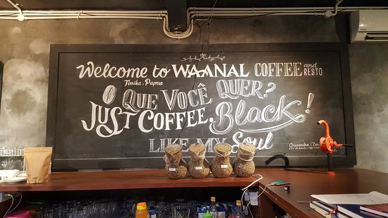 Timika, Indonesien: Welcome board in Waanal Coffee