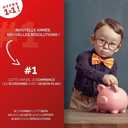 BON PLAN DE JANVIER  TOUS LES SOIRS 1 menu acheté = 1 menu offert sur réservation uniquement code SMS 119