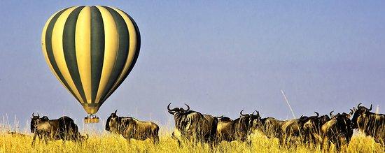 Ballon ride in the Masai mara of Kenya