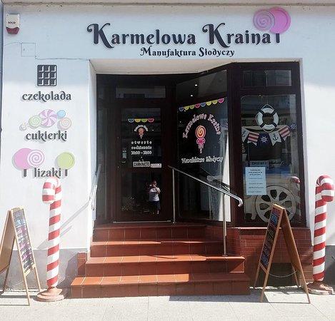 Bydgoszcz, Polen: Wejście do Karmelowej Krainy