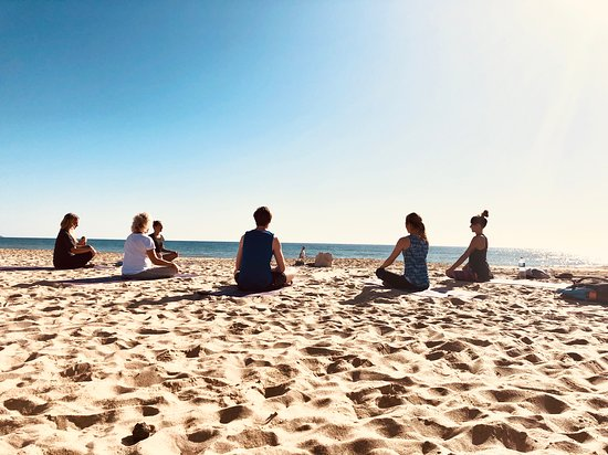 Island Yoga Fuerteventura: Connecting mind body and soul while our morning Yoga practice by the ocean!
