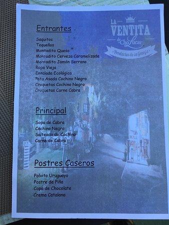 Fasnia, สเปน: menu (December 2018)