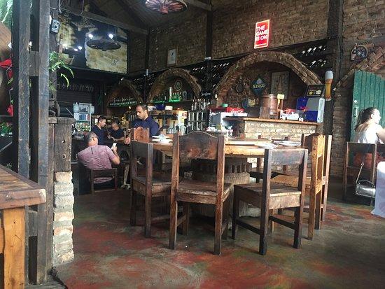 Olaria Bar: Ambiente interno do bar.