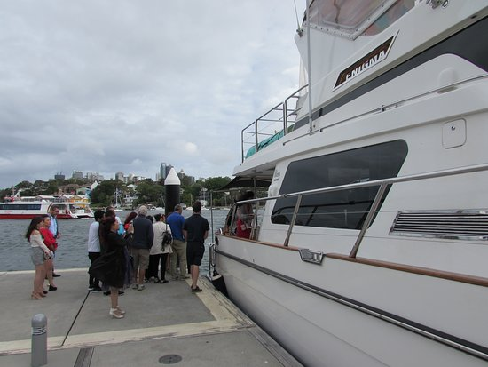 Sydney Harbour Specialists: Getting on board at the start of our cruise