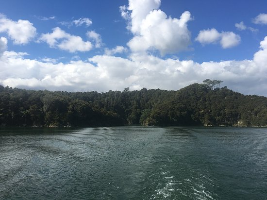 Waimangu, Новая Зеландия: De paseo por el Rotomahana