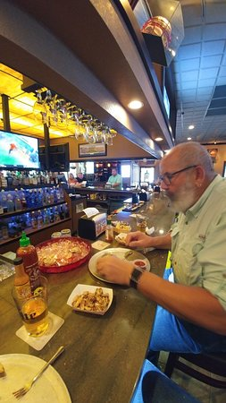 Oyster Pub: Making short work of the oysters and buffalo shrimp!