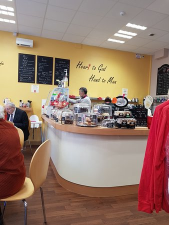 Derbyshire, UK: View to the counter