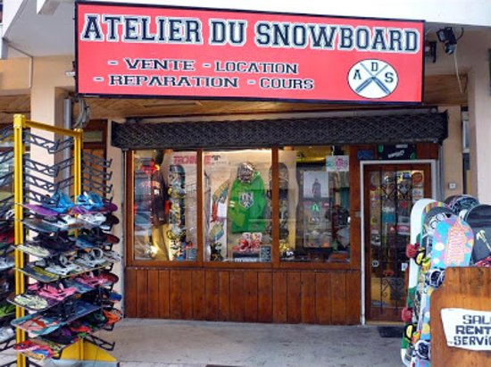 Les Deux-Alpes, Γαλλία: Devanture du magasin