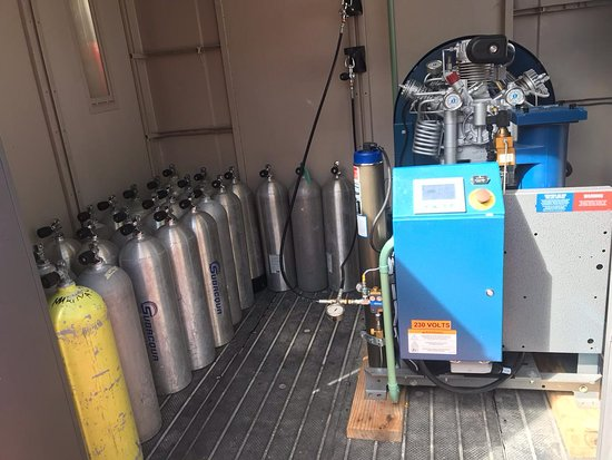 We have our own air compressor to make sure the air we will be breathing its totally clean and healthy