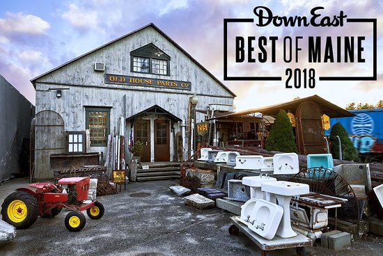 "Kennebunk, ME: We are Downeast Magazine's 2018 Editors' Choice for ""Best Cult Architectural Salvage Emporium""!"