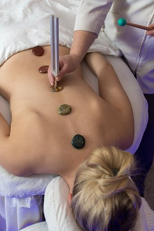 Acutonics is a vibrational form of sound therapy used to correct health imbalances, facilitate inner harmony, and relieve stress, pain and anxiety. It's like having an acupuncture treatment without the needles.