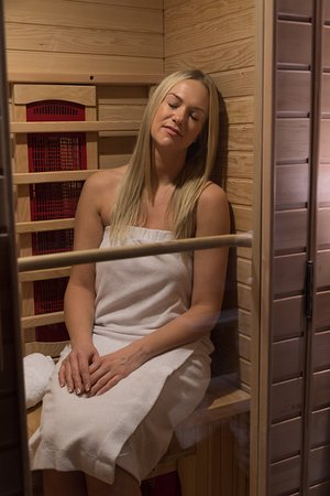 A two person Infra-red sauna is available for client use. Benefits of the sauna are: improved circulation, detoxification, weight loss, relaxation, better sleep, sore muscle and joint pain relief, and help for people with chronic fatigue syndrome.