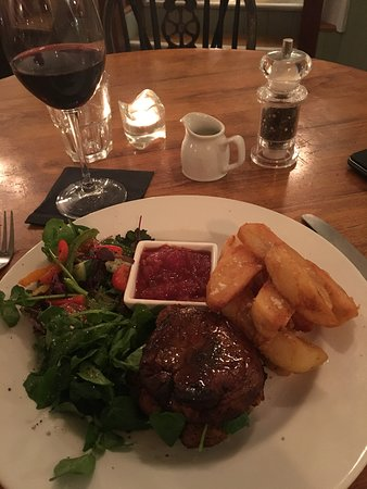Wickham, UK: Vegan Burger and triple Cooked Chips.. Just perfect.!