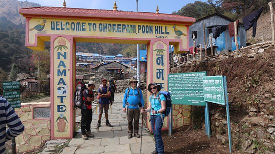 Welcome board to Ghorepani poon hill