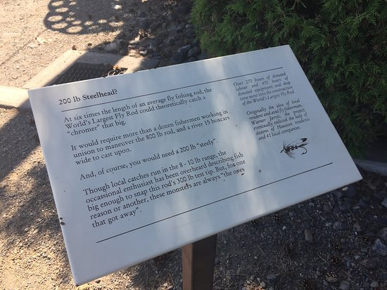 World's Largest Fly Rod: Information Board