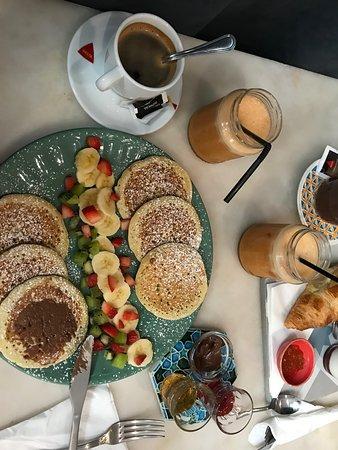 Brunch pour 2 : façon pancakes et brunch sucré/salé