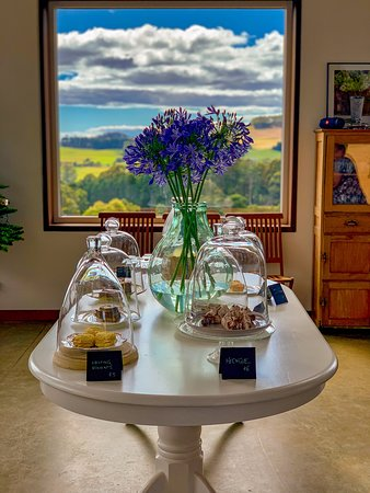 Dessert and scenery