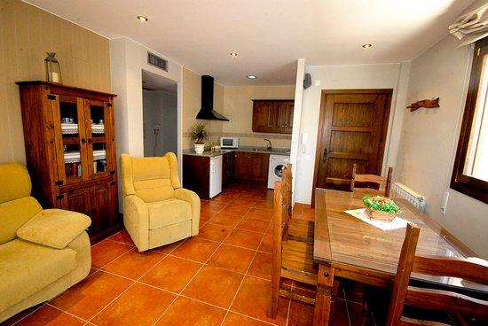 Salón-cocina en apartamentos Las Eras