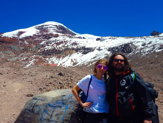 Bucay, Ecuador: Our happy adventures starting to hike until the second refuge Chimborazo highest Ecuador Volcano Biking private day tour. contact us and book now.