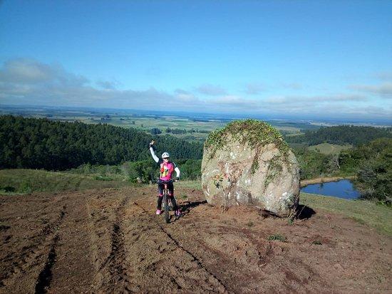 Foto realizada em Encruzilhada do Sul durante pedal Ciclo turistico
