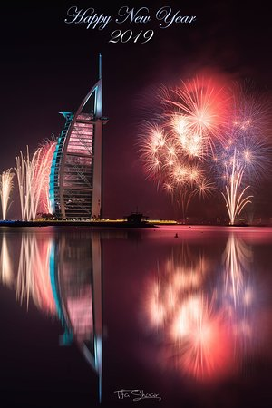 Dubai, Arabiemiirikunnat: Best place to celebrate new year and watch fire works (check my Instagram: Tifagraphy) & happy new year every one