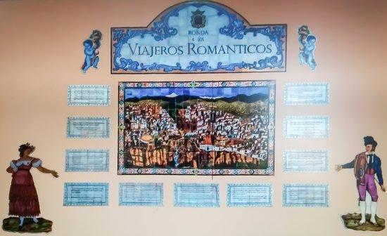 Placa A Los Viajeros Romanticos
