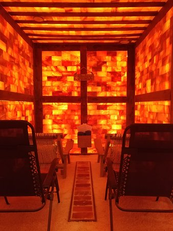 Aki Himalayan Salt Room: At Aki we help you let go of stress to improve your health with salt therapy, sound therapy and relaxation in our Himalayan Salt Room.Special equipment releases a dry aerosol of salt at a controlled amount into the room. Salt creates an unfriendly environment for bacteria and viruses to help boost your immune system, thin congestion and allow you to breathe a little easier. You will listen to a wavelength of sound proven soothe and relax. Call Aki today to schedule your escape in our salt room.