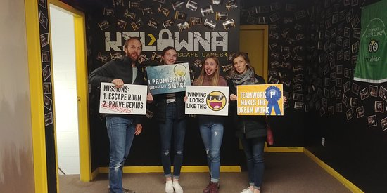 ‪‪Xperience Kelowna Escape - Escape Room & Virtual Reality Arcade‬: Player Pics‬