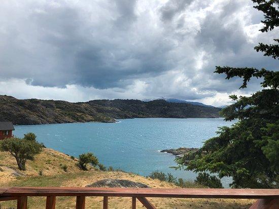 Mallin Grande, Chile: Foto tirada da varanda de nossa cabana
