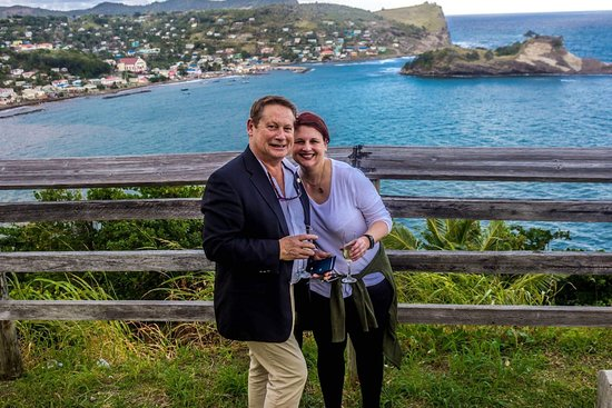 Vieux Fort, St. Lucia: A quick stop at Mandele view point in Dennery during a private airport transfer to St James Club Morgan Bay.