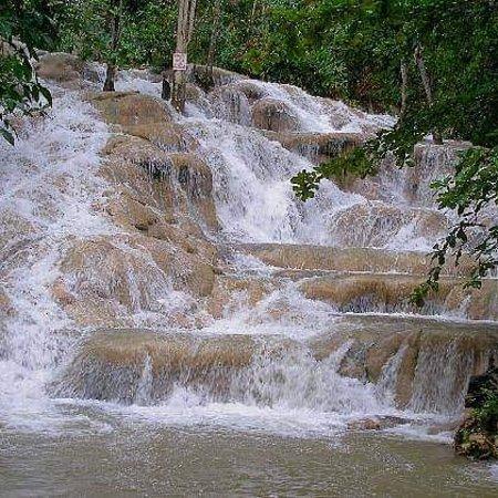 """Mammee Bay, Jamaica: Dunn""""s River water falls."""