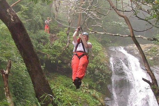 Mega Waterfall Zipline Tour from San...
