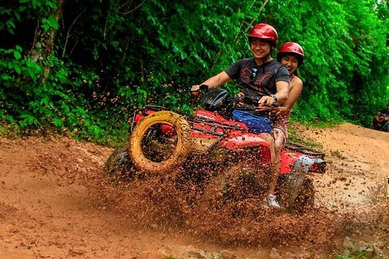 Ziplines Atv and cenote adventure in...