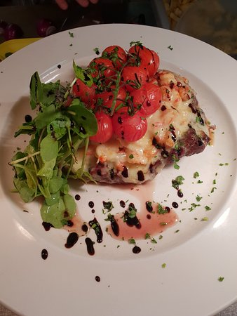 Rump with Crayfish Tails & Melted Cheese