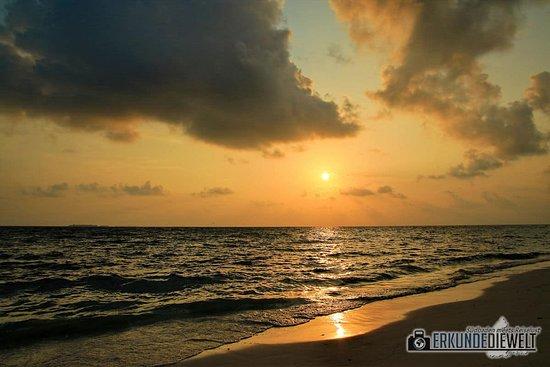 Sonnenuntergang auf Ukulhas, Malediven