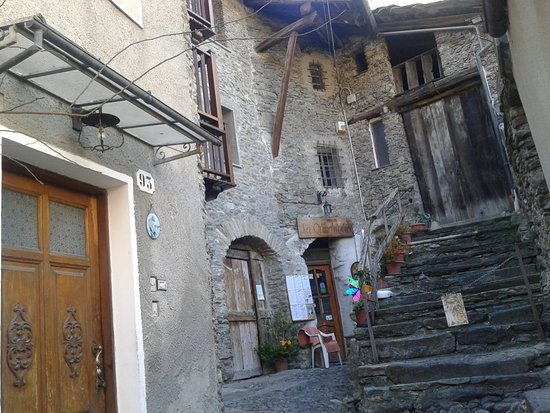 Exilles, Italie : La caratteristica entrata